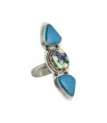 Women Ring, Banditas creations, Campitos Turquoise on Silver, handmade work