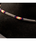 """HAT """"JEWEL"""", FROM NATIVE AMERICAN NAVAJOS, WOVEN BEADS , FOR WOMEN AND MEN"""