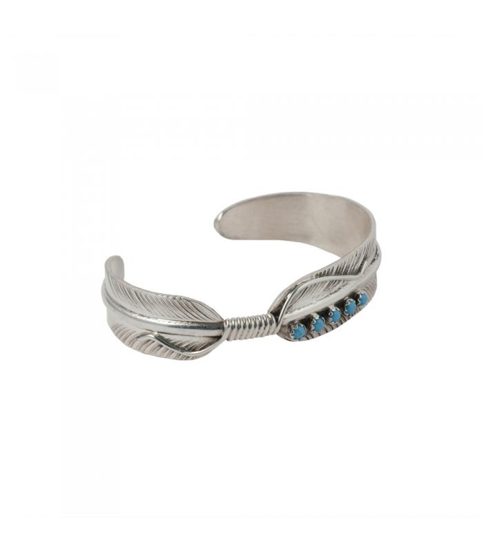 bracelet plume femme navajo argent turquoise. Black Bedroom Furniture Sets. Home Design Ideas