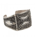 LARG SILVER BERBER CUFF, FOR WOMEN AND MEN