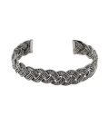 BERBER BRAID 3 WIRE BRACELET, SILVER, FOR WOMEN AND MEN