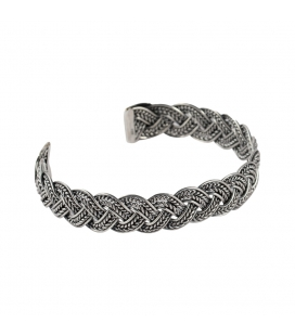 BERBER BRAID LARG BRACELET, SILVER, FOR WOMEN AND MEN