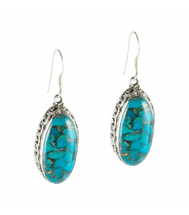 BLUE COPPER TURQUOISE EARRING