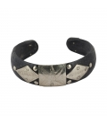 THIN AFRICAN BRACELET, SILVER AND HORN, FOR WOMEN AND GIRKS