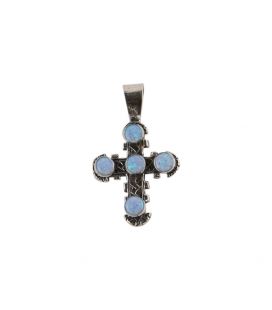 "Native American NAVAJO WOMAN NECKLACE, ""LIQUID SILVER"" SILVER AND OPAL"