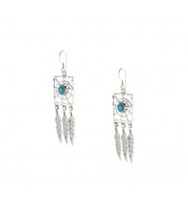 Boucles d' oreilles Navajos, Dreamcatchers Argent et Turquoises, pour femme et enfant