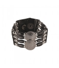 """NATIVE AMERICAN NAVAJO BRACELET """"LIQUID SILVER"""" ROWS, SILVER AND LAPIS, WOMEN AND CHILDREN"""
