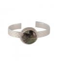 """Bracelet Banditas Créations, en Argent estampé et """"Rainbow Calsilica"""", fait main, pour femme"""