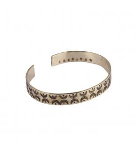 SL Bijoux Creations 2 bars Bracelet, handstamped brass, for women