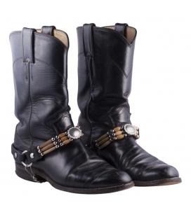 """Accessoire Bottes 2 ou 3 rangs, en Cuir, corne et os, """"Conchos"""" métal, origine USA, entièrement faite main, pour homme et femme"""