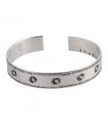 Bracelet fin Banditas Créations , en Laiton estampé, fait main, pour femme
