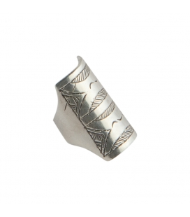 BERBER WOMAN RING, SILVER AND ONYX CABOCHON