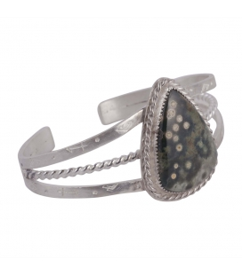 SL Bijoux Creations 2 bars Bracelet, Silver and Cowri, for women