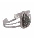 """Bracelet """"3 barrs Twisted"""" SL bijoux Créations en Argent et Jaspe, fait main, pour femme"""