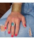 Manchette Banditas Créations large, en Laiton estampé, fait main, pour femme