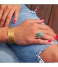 Manchette Banditas Créations , en Laiton estampé, fait main, pour femme