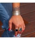 Manchette Banditas Créations, en Argent ton estampé , fait main, pour femme et homme