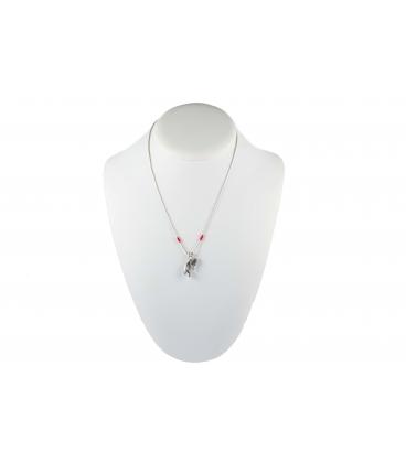 """Collier Kokopelli """"Liquid Silver"""", Argent et perles de rocaille, pour femme et enfant"""