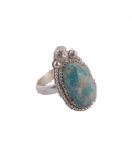 SL Bijoux creations ring, Nacozari Turquoise on stamped Silver, women and men
