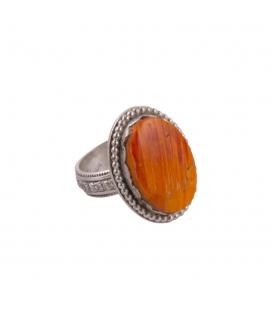 Bague SL bijoux créations, Spiney Oyster et Argent travaillé, pour femme