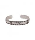 Bracelet Banditas Créations, en Argent ton estampé , fait main, pour femme et homme