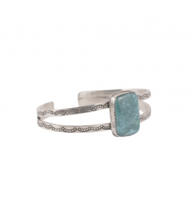 Banditas creations ring, Nacozari Turquoise on stamped Silver, women and men