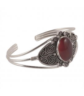 BERBER CUFF, WORKED SILVER, FOR WOMEN AND MEN
