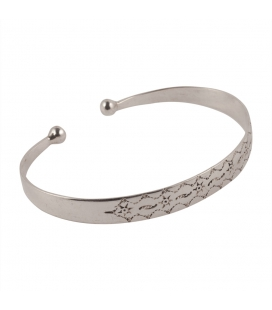 TUAREG CUFF, STAMPED SILVER, FOR WOMEN AND MEN