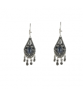 Berber Earrings, Embroidered Silver and Cornaline, women and girls