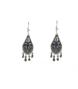Boucles d'oreilles Berbères en Argent et perles de verre, pour femme et enfant