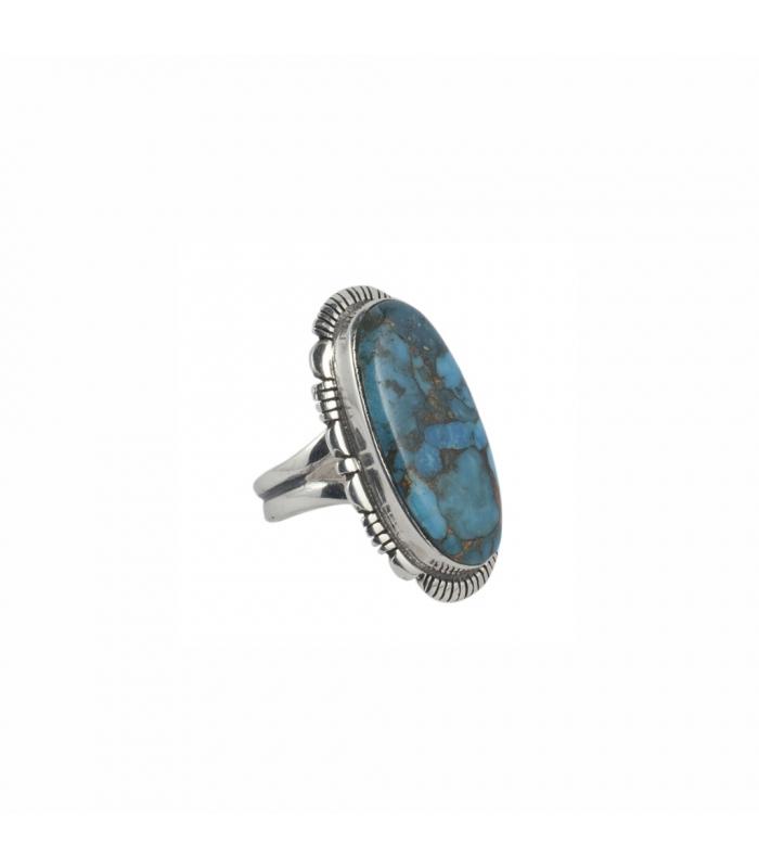 bague navajo ovale en argent et turquoise femme et homme. Black Bedroom Furniture Sets. Home Design Ideas