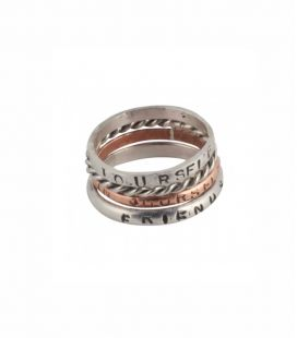 BANDITAS CREATIONS PERSONALIZED RINGS, SILVER, TWISTED SILVER WIRE OR COPPER, YOU CHOOSE