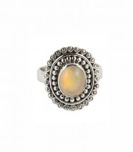 INDIAN RING, SILVER 925 AND ETHIOPIAN OPAL, FOR WOMEN