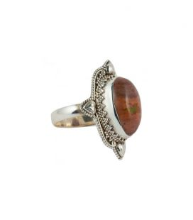 INDIAN RING, SILVER 925 AND MEXICAN OPAL, FOR WOMEN