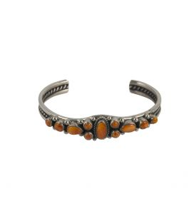 Native American Zuni Bracelet for Women, Silver and Opal marquetry