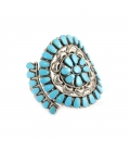 Bracelet Amérindien Navajo en Argent et Turquoises, pour femme