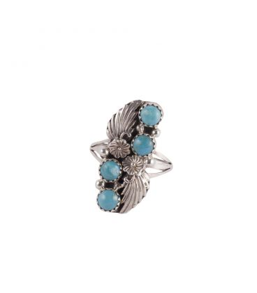 Native American Navajo Feather Ring for Woman or Man, Silver