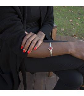 """Bracelet """" Corail Eponge"""" Banditas Créations, en Argent estampé et Corail, fait main, pour femme"""