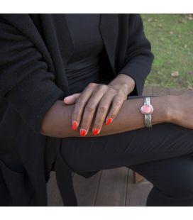 """Bracelet """"Spiney Plume""""Banditas Créations, en Argent estampé et Spiney Oyster, fait main, pour femme"""
