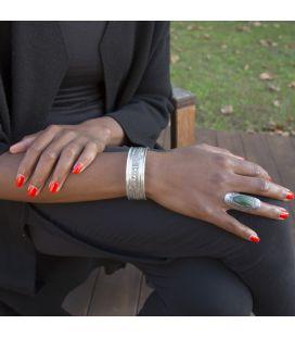 MANCHETTE TOUAREG EN ARGENT TRAVAILLÉ, COLLECTION AFRIQUE, HOMME OU FEMME
