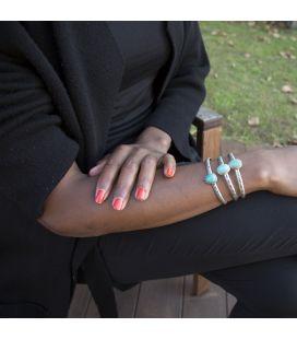 """Bracelet Banditas Créations, en Argent et """"Kingman"""" Turquoise,fait main, pour femme"""