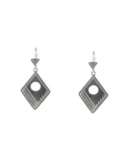 Big Berber Earrings, Embroidered Silver,for women and girls