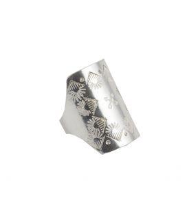 Long stamped SL Bijoux ring, Silver 925