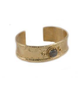 """Large Manchette """"Pyramides"""" SL bijoux Créations, en plaqué Or et pierre ( au choix), fait main, pour homme et femme"""