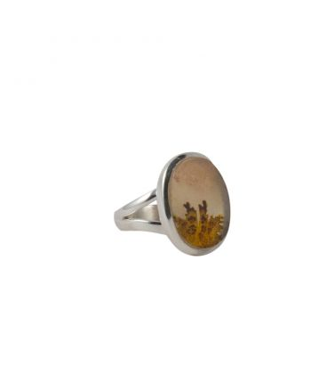 INDIAN RING, SILVER AND SCENIC DENTRITE, FOR WOMEN