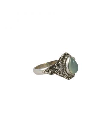 INDIAN RING, SILVER 925 AND CHRYSOPRASE, FOR WOMEN