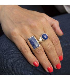 Chevalière en Argent et Lapis Lazuli ovale, Collection Inde, pour homme et femme