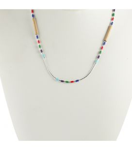 """""""Liquid Silver"""" necklace. Mini Dream Catcher, Silver and Turquoise ,for women and girls ."""