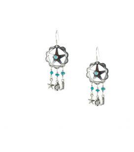 Boucles d' oreilles Navajos, Dream catchers et breloques Argent, pour femme et enfant