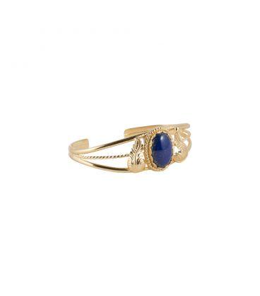 """Bracelet """"3 branches"""" en Vermeil et Lapis Lazuli Banditas création originale, pour femme"""
